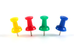 Office color pushpins Royalty Free Stock Photography