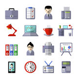 Office Colored Icon Set Royalty Free Stock Photos