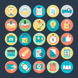 Office Colored Vector Icons 3. We are bringing you a collection of office equipment icons. Hope you can find a great use for them in offices and school Royalty Free Stock Images