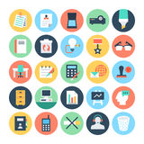 Office Colored Vector Icons 4 Stock Photos