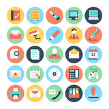 Office Colored Vector Icons 2 Stock Photo