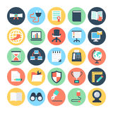 Office Colored Vector Icons 5 Royalty Free Stock Photo