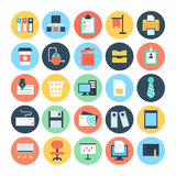 Office Colored Vector Icons 1 Royalty Free Stock Photos