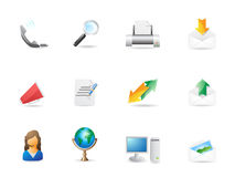 Office and communication icon set Stock Photo