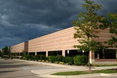 Office complex. On a cloudy day Royalty Free Stock Image