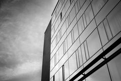 Office complex of high-rise buildings. Black and white. Royalty Free Stock Image