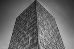 Office complex of high-rise buildings. Black and white. Royalty Free Stock Images