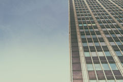 Office complex of high-rise buildings. The effect of film grain. Stock Photo