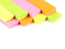 Office composition. Self-adhesive notes Stock Image
