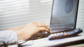 Office Computer - Woman Typing Royalty Free Stock Image