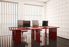 Office with computers 3d Stock Images