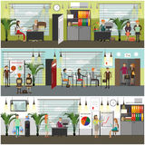 Office concept vector illustration in flat style. Stock Images
