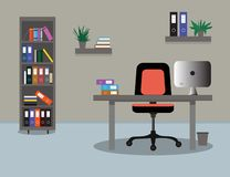 Office concept vector illustration royalty free illustration
