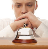 Office Concierge. Service bell at the hotel Stock Images