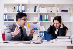 The office conflict between man and woman Stock Photography