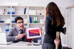 The office conflict between man and woman Royalty Free Stock Image
