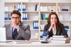 The office conflict between man and woman Stock Photos