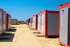 Office containers. Module for recreation and social needs of the construction site Royalty Free Stock Photos