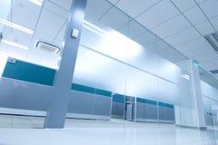 Office corridor. With door glass Stock Photo