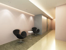 Office Corridor Area. Corridor Area of an office with modern decoration Royalty Free Stock Image