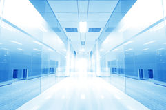 Office corridor door glass Royalty Free Stock Photos