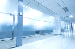 Office corridor door glass Stock Photography
