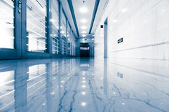 Office corridor door glass Royalty Free Stock Photography