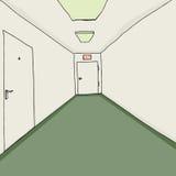 Office Corridor with Exit Stock Photos