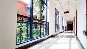 Office corridor. Inside modern building. Commercial office building interior stock photo