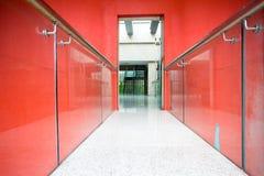 Office corridor to door Stock Photography