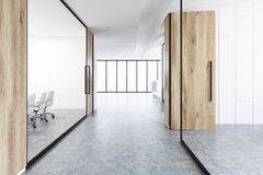 Office corridor with wood and glass Stock Images