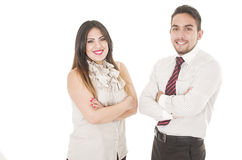 Office couple Royalty Free Stock Image