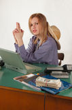 Office cowgirl Royalty Free Stock Photo