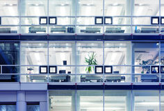 Office cubicles Stock Image