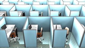 Office cubicles, interior, building, partition, space, work. stock video