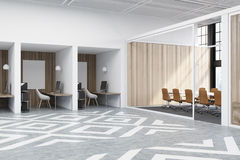Office cubicles with pictures side Stock Image