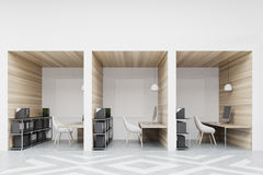 Office cubicles with pictures Stock Image