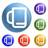 Office cup icons set vector vector illustration