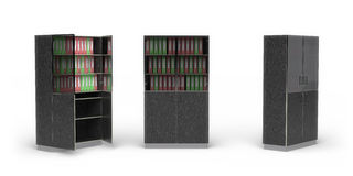 Office cupboard. On a white background. It's 3D image Royalty Free Stock Photography