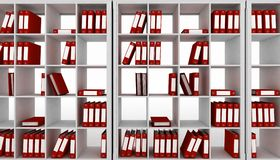 Office Cupboard With Different Folders Stock Images