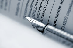 Office day. Holder. Commercial document Stock Photo