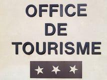 Office de Tourisme en Francia Imagen de archivo libre de regalías