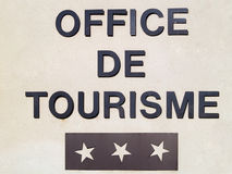 Office de Tourisme in France. French Tourist Office sign at wall Royalty Free Stock Image
