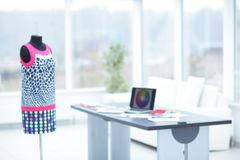 Office designers clothes.photo with copy space Royalty Free Stock Photo