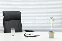 Office desk. It is a simple office desk Royalty Free Stock Photo