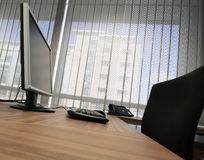 Office desk. With keyboard & monitor Stock Photography