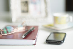 Office Desk Blurred Background Royalty Free Stock Photos