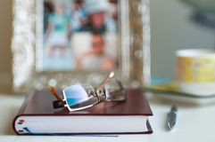 Office Desk Blurred Background Royalty Free Stock Photography