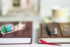 Office Desk Blurred Background Stock Photography