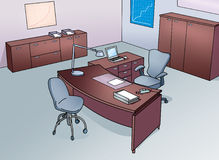 Office with  desk and chair Royalty Free Stock Photos